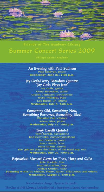 Summer Concerts 2009 Program