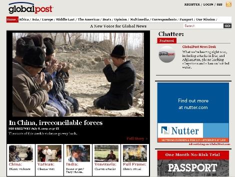 GlobalPost's homepage