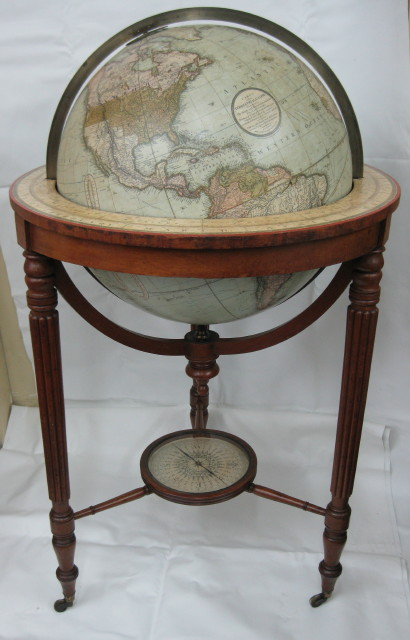 Cary Terrestrial Globe conservation, 2012.