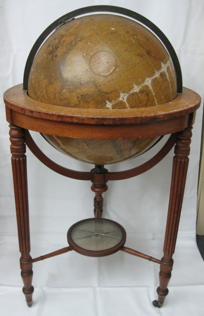 Globe prior to restoration.